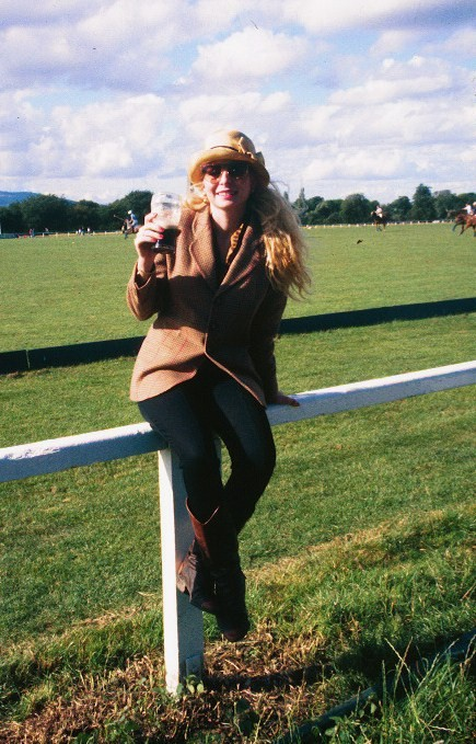 Watching Polo with a Guinness at the All Ireland Polo Club
